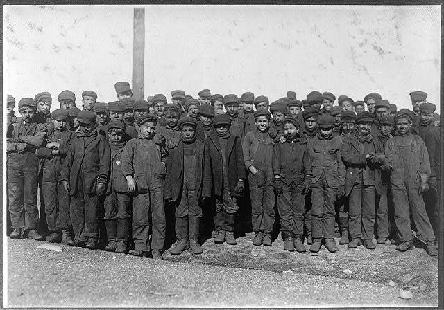 Group of boys working in #9 Breaker Pennsylvania Coal Co., Hughestown Borough, Pittston, Pa. In this group are Sam Belloma, Pine Street, Angelo Ross, and others reported previously.  Location: Pittston, Pennsylvania.