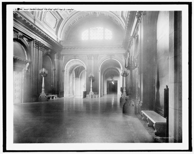Hall, third floor, the New York Public Library