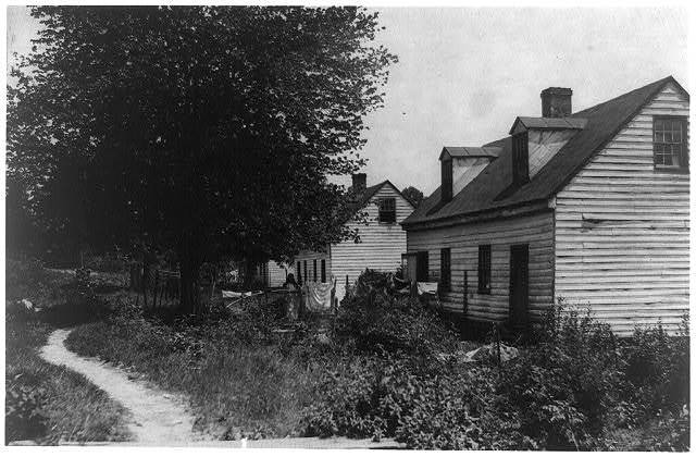 Housing conditions are not very good in Matoaca, Va. Ebb-tide in industry.  Location: Matoaca, Virginia.