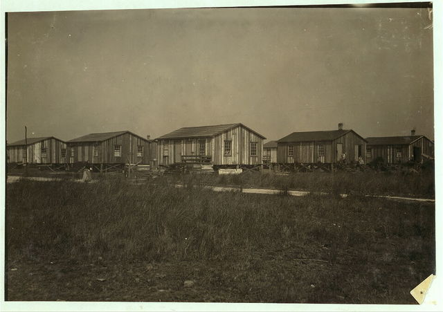 Housing conditions in the settlement of workers in Alabama Canning Co. Two families to a house, but they are separated. Housing conditions fairly good.  Location: Bayou La Batre, Alabama.