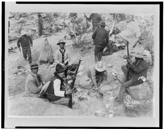 Insurgents cooking dinner in Orozco's camp, Mexican War