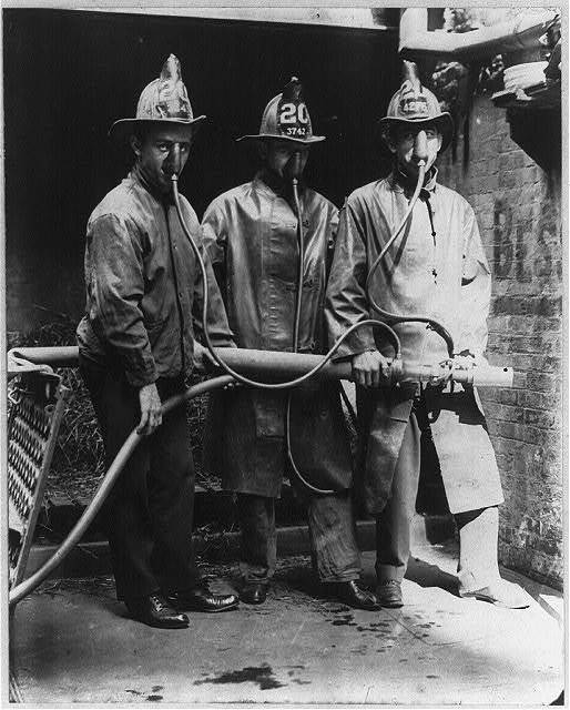 James D. Halloran, a fireman attached to Engine Company no. 20 of this city (N.Y.) is the inventor ... smoke mask ...