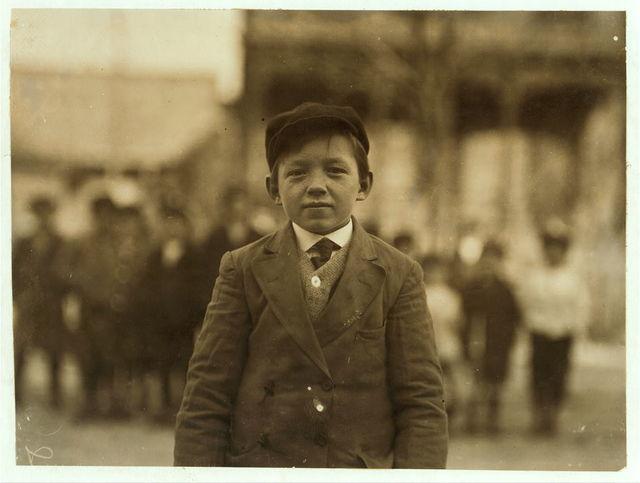 Josef Szlosek, 10 Joy St., (alone) Has been doffer in #8 mill for six months.  Location: Ludlow, Massachusetts.