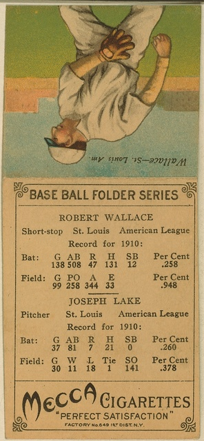 [Joseph Lake/Robert Wallace, St. Louis Browns, baseball card portrait]