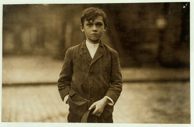 Joseph Philip, 5 Wall St., pin boy in Les Miserables Bowling Alley, said 11 years old and worked until midnight every night: said he made $2.25 last week and $1.76 the week before.  Location: Lowell, Massachusetts.