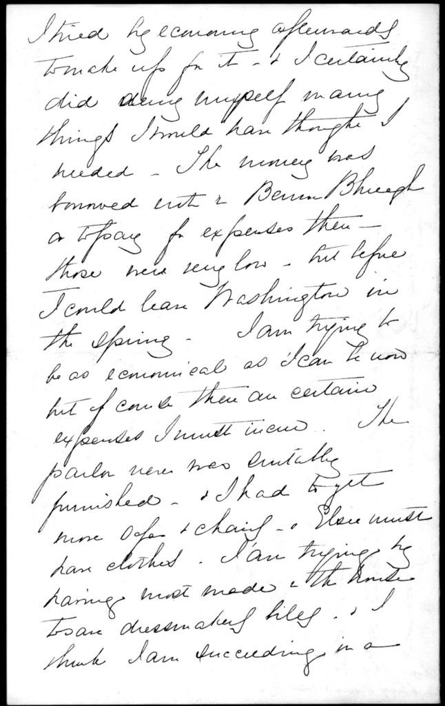 Letter from Mabel Hubbard Bell to Alexander Graham Bell, November 19