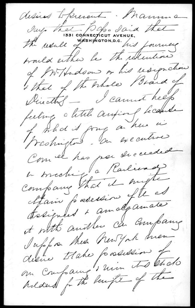 Letter from Mabel Hubbard Bell to Alexander Graham Bell, November 19