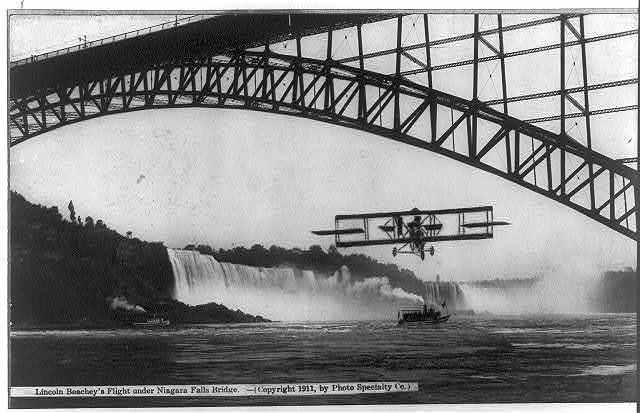 Lincoln Beachey's Flight under Niagara Falls Bridge