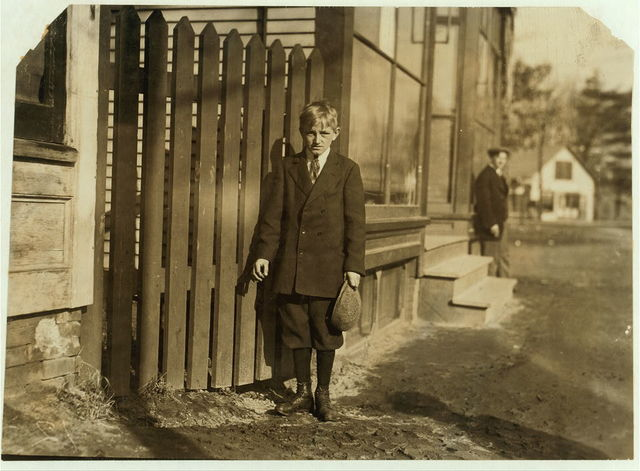 Louis Zabawa, 33 East St. Has been a band boy in #10 Mill, two years and six months. He says.  Location: Ludlow, Massachusetts.