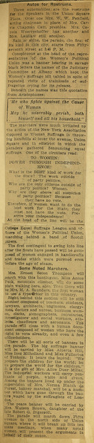 Militant Suffragists Line Up for Grand March in Crusade for Votes; page 2