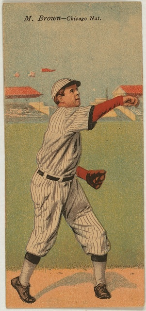 [Mordecai Brown/Arthur Hofman, Chicago Cubs, baseball card portrait]