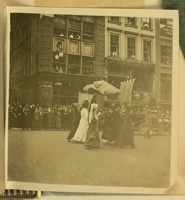 New York City Suffrage Parade photograph, bottom left
