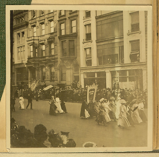 New York City Suffrage Parade photograph, bottom right