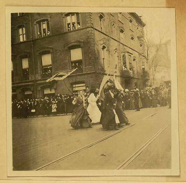 New York City Suffrage Parade photograph, top left