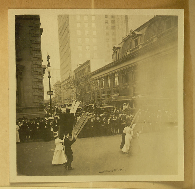 New York City Suffrage parade photograph top right