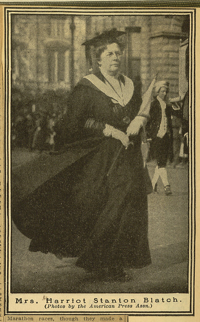 Newspaper photomechanical print of Harriot Stanton Blatch