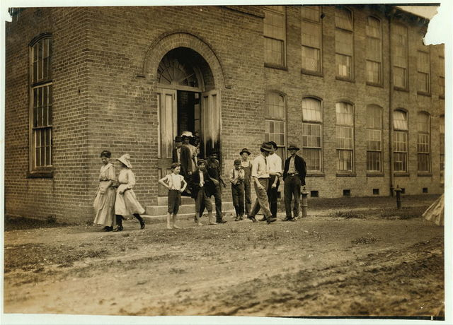 Noon hour, Delta Cotton Mills, Mc Comb, Miss. All work.  Location: McComb, Mississippi.