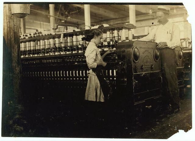 One of the young spinners and the Supt. Yazoo City Yarn Mills.  Location: Yazoo City, Mississippi.