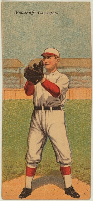 [Orville Woodruff/Otto G. Williams, Indianapolis Team, baseball card portrait]