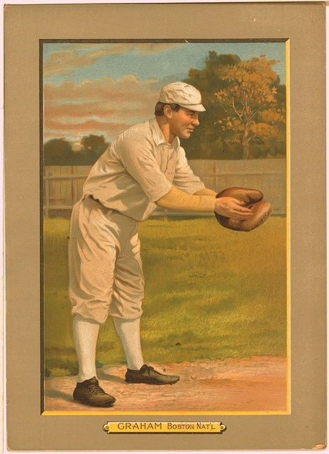 [Peaches Graham, Boston Rustlers, baseball card portrait]