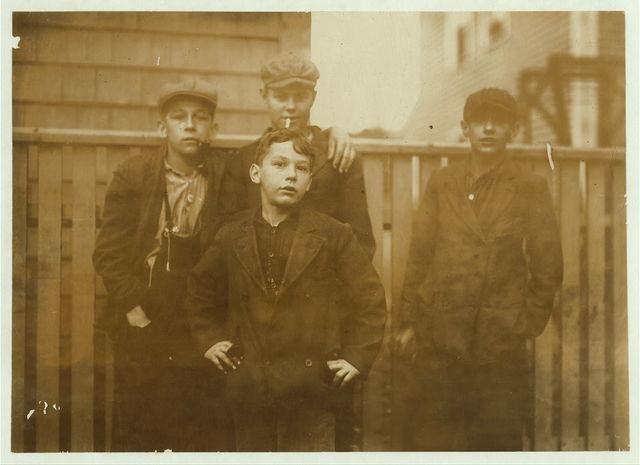 Rene Barbin, 61 Perkins St., works in lower Spinning Room #2. Rene, 14 in Feb.  Location: Salem, Massachusetts.