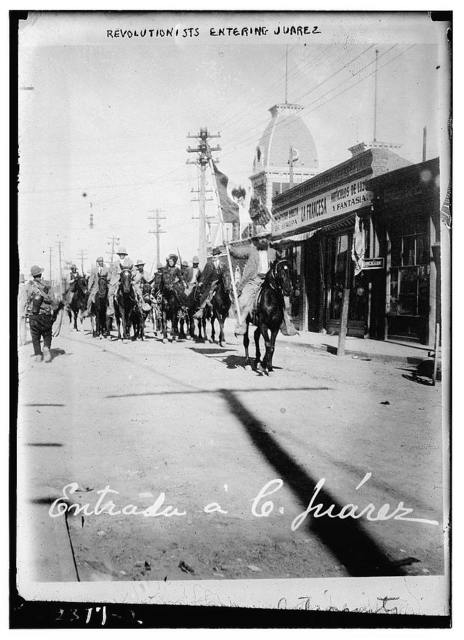 Revolutionists entering Juarez