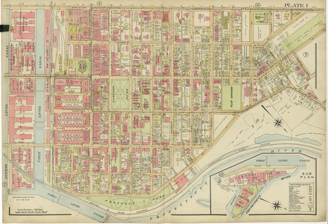 Richards standard atlas of the city of Holyoke, Massachusetts : containing ten double page maps in colors, covering the entire city, showing every lot line, building, owners' name, electric and steam railways, sewers, water mains, etc. : based upon, and carefully compiled from, the official plans, surveys and records of the city engineers, assessors and other municipal departments, together with private plans, and from actual surveys and investigations /