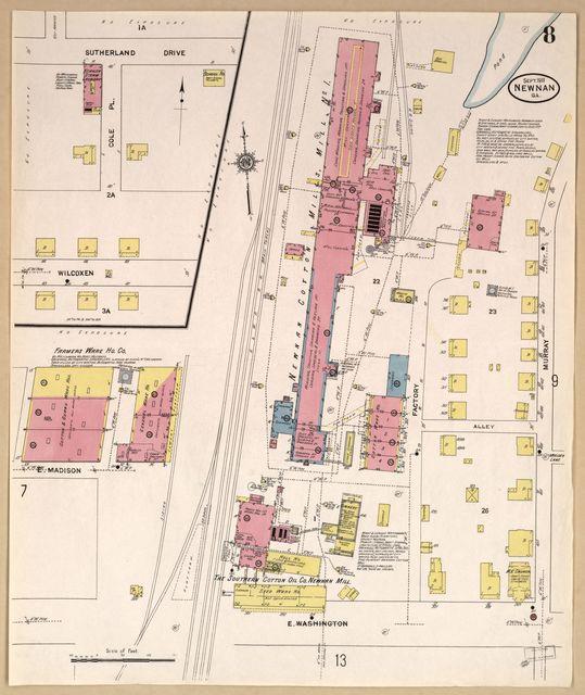 Sanborn Fire Insurance Map from Newnan, Coweta County, Georgia.