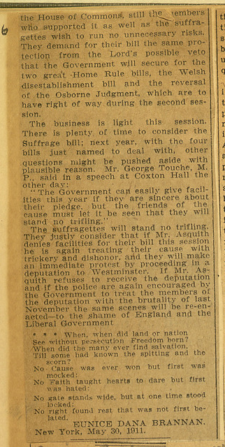 See British Victory for Women Voters and Suffrage Fight in England; page 2