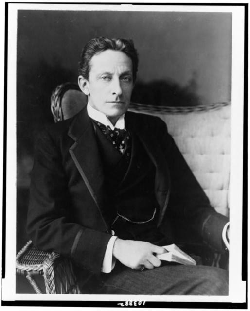 [Sir Johnston Forbes-Robertson, three-quarter-length portrait, seated, facing slightly right]