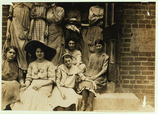 Some of the adolescents working in Delta Cotton Mills, Mc Comb Miss.  Location: McComb, Mississippi.