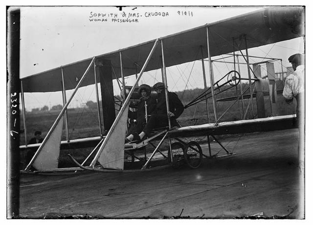 Sopwith & Mrs. Chudoba, woman passenger