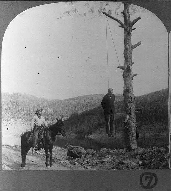 [Stagecoach robbery series] What the sheriff found / / Photographed and published by Ed. Tangen, Boulder, Colorado.