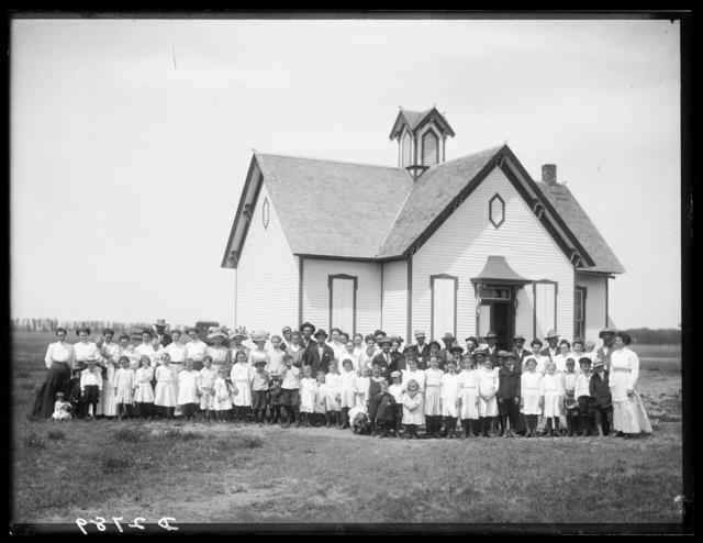 Students and teachers at Lowell, Nebraska.