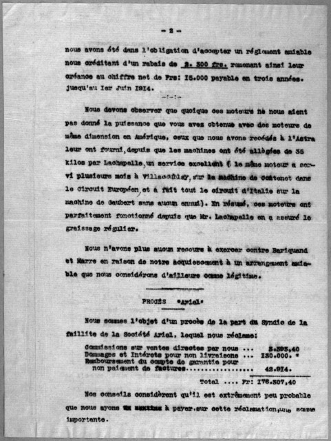 Subject File:  Foreign Business--Countries--France--Compagnie General de Navigation Aerienne, 1911