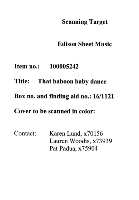 That baboon baby dance