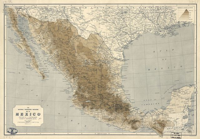 The National Geographic Magazine map of Mexico /