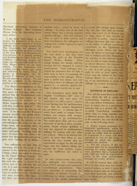 The Remonstrance, Quarterly
