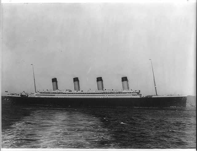 [The S.S. OLYMPIC, 1911: Full lgth. starboard view]
