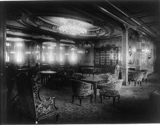 [The S.S. OLYMPIC, 1911: Lounge room]