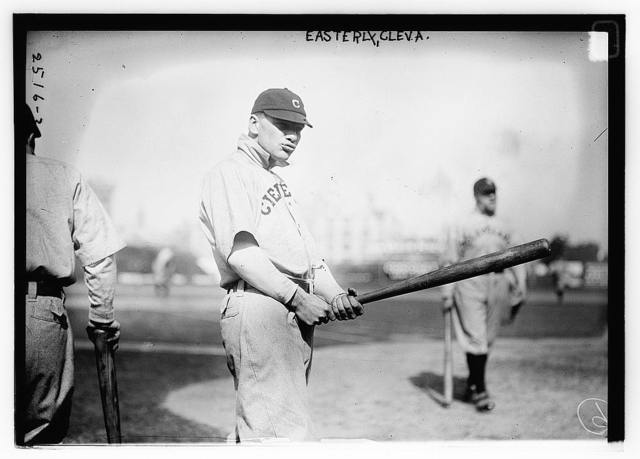"""[Theodore Harrison """"Ted"""" Easterly, Cleveland AL, at Hilltop Park, NY (baseball)]"""