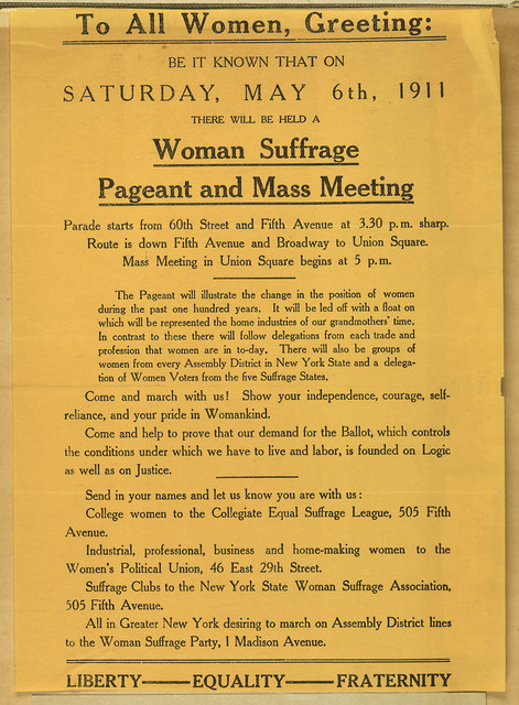 To All Women, Greeting: Woman Suffrage Pageant and Mass Meeting