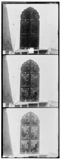 T︠S︡arskī︠a︡ vrata luchsheĭ ikonopisi, vozniksheĭ v kont︠s︡i︠e︡ XVI vi︠e︡ka. Muz. opisi No. 6802. V Rostovskom muzei︠e︡. Rostov Velikīĭ