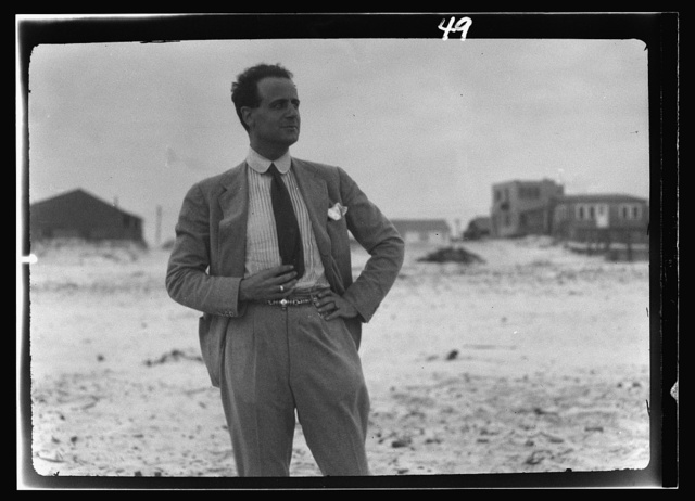 Unidentified man at Long Beach, New York