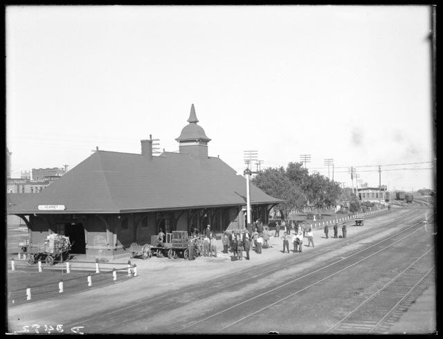 Union Pacific railroad yards looking east, Kearney, Nebraska.