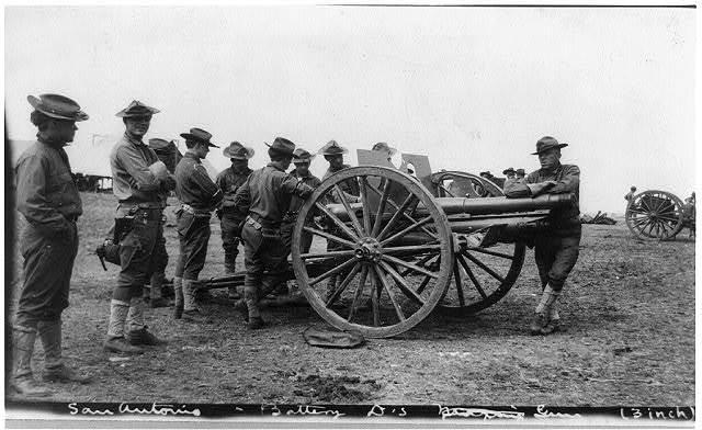 U.S. Army 1911 maneuvers in Texas: Battery D's 3-inch gun