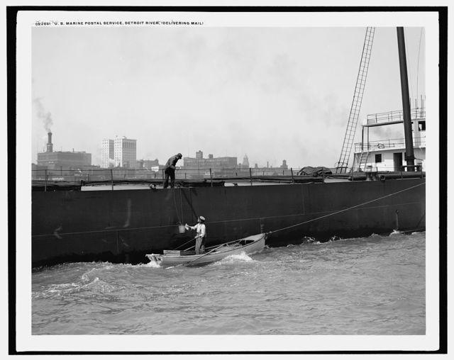 U.S. Marine Postal Service, Detroit River, delivering mail