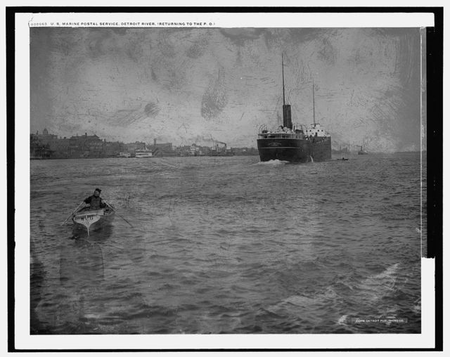 U.S. Marine Postal Service, Detroit River, returning to the P.O.
