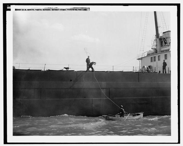 U.S. Marine Postal Service, Detroit River, throwing the line