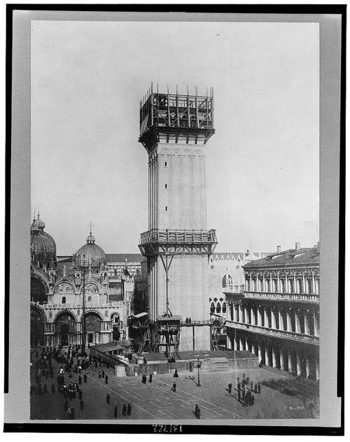 Venice, Italy--The new campanile, San Marco